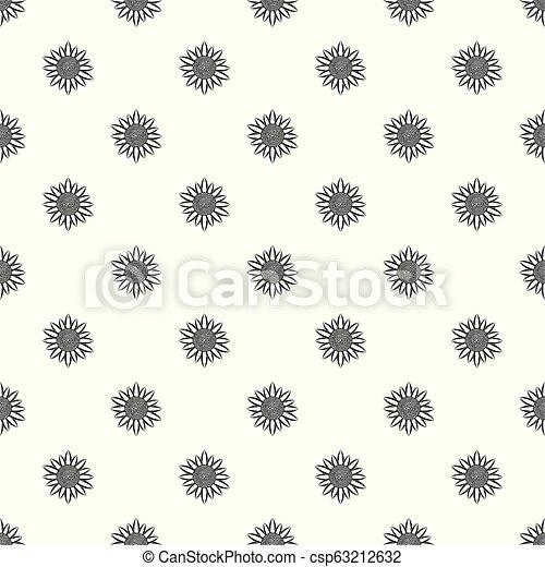 Sunflower seed pattern seamless vector - csp63212632