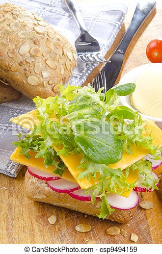 sunflower seed roll with cheese - csp9494159