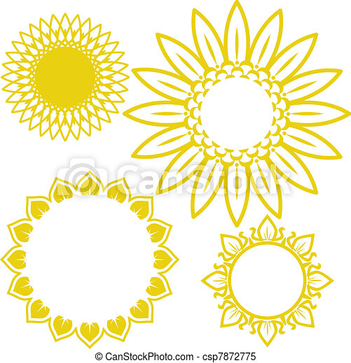 Sunflowers. Clip art collection of sunflower themed designs.