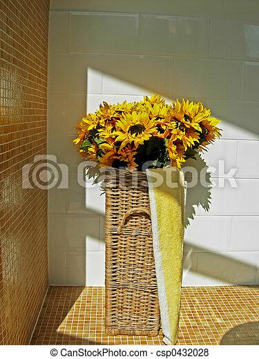 sunflowers in bathro - csp0432028
