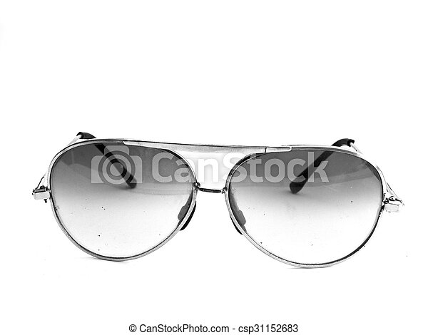 sunglasses isolated on a white background - csp31152683