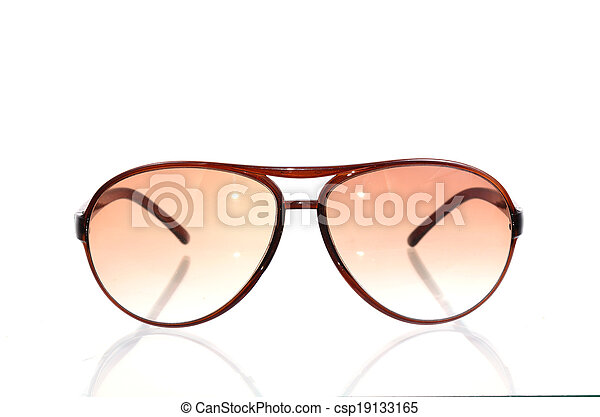 Sunglasses isolated on a white background - csp19133165