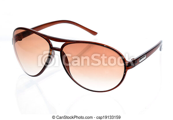 Sunglasses isolated on a white background - csp19133159