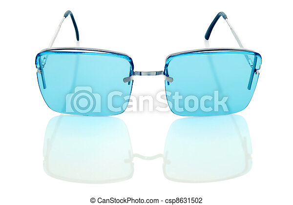 sunglasses isolated on a white background - csp8631502