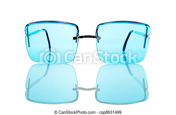 sunglasses isolated on a white background - csp8631499