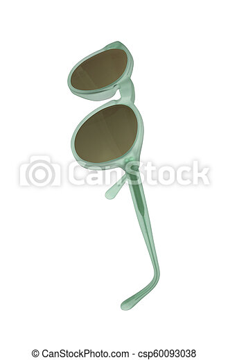 sunglasses isolated on a white background - csp60093038