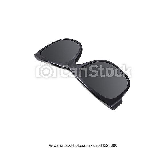 sunglasses isolated on white background - csp34323800