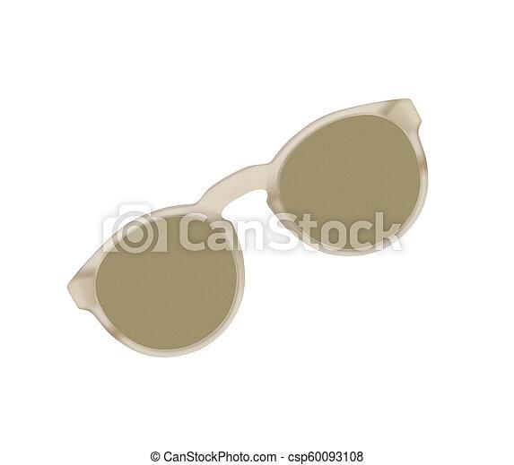 Sunglasses isolated on white background - csp60093108