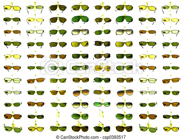 Sunglasses on a shelf - csp0393517
