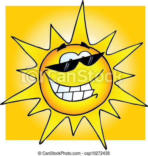 sunglasses, uśmiechnięte słońce - csp10272438