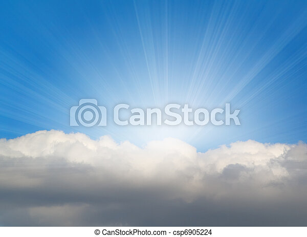 sunlight background with cloud - csp6905224