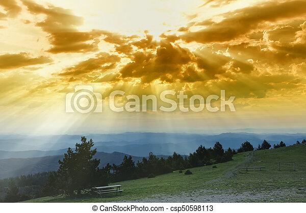 sunlight in the clouds - csp50598113