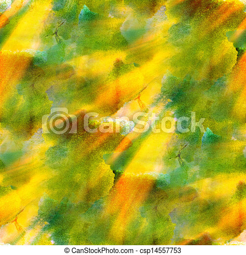 Sunlight Paint Seamless Green Yellow Black Background Watercolor Color Abstract Art
