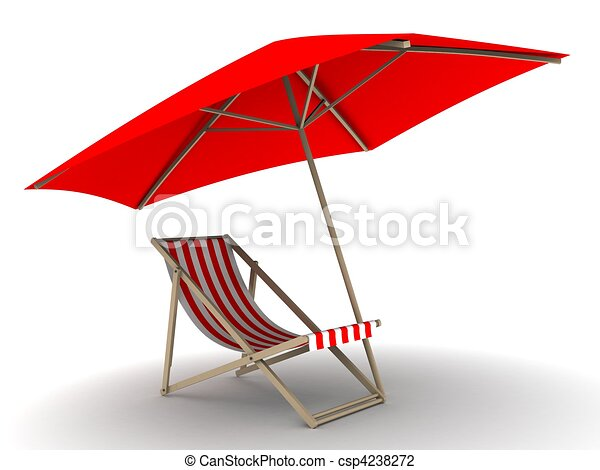 Sonnenliege clipart  Sunlounger . 3d rendered illustration of a deck chair under ...