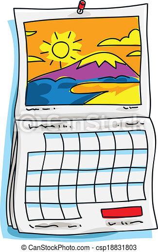 Calendario Clipart.A Calendar Vector Clipart Royalty Free 14 125 A Calendar