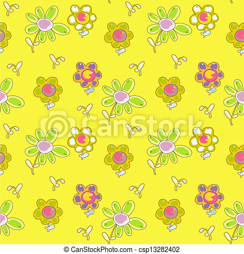 sunny floral pattern - csp13282402