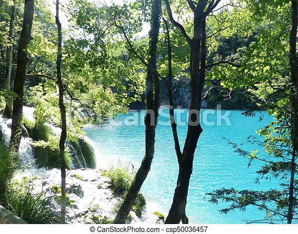 Sunny lake - csp50036457