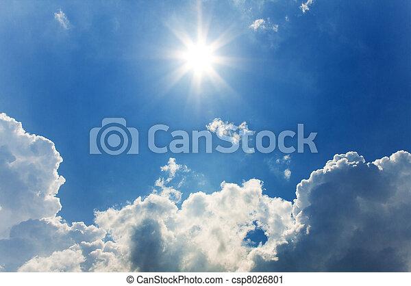 sunny sky background - csp8026801