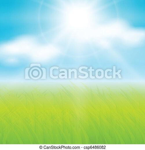 Sunny spring background - csp6486082