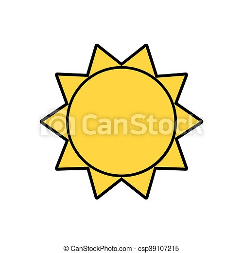 sunny sun abstract sunshine icon vector graphic sunny sun rh canstockphoto com clipart sunny day sunny clipart png