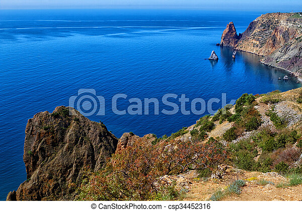 Sunny view of the Black Sea - csp34452316