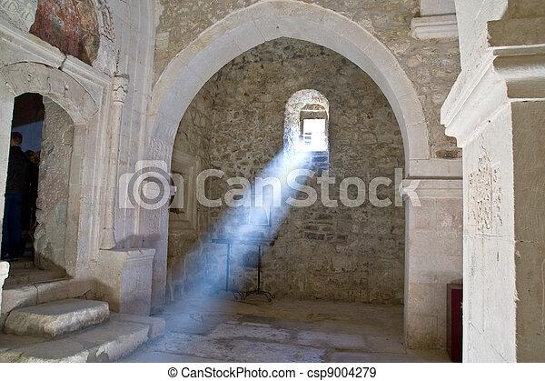 sunray in church - csp9004279