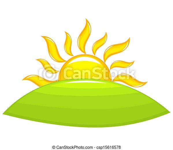 Sunrise above hill - csp15616578