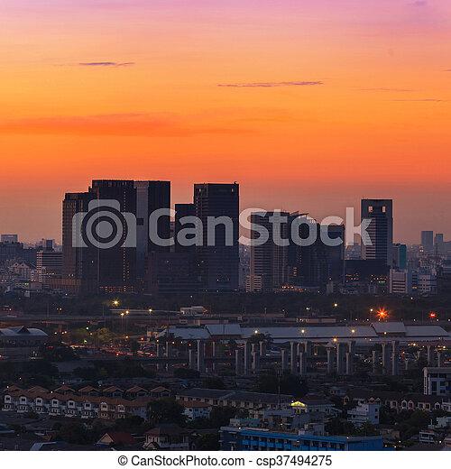 Sunrise at Bangkok - csp37494275
