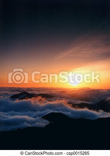 Sunrise at clouds - csp0015265