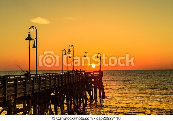 Sunrise at Daytona Pier - csp22927110