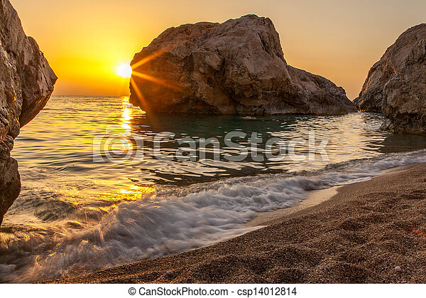 Sunrise at the beach - csp14012814