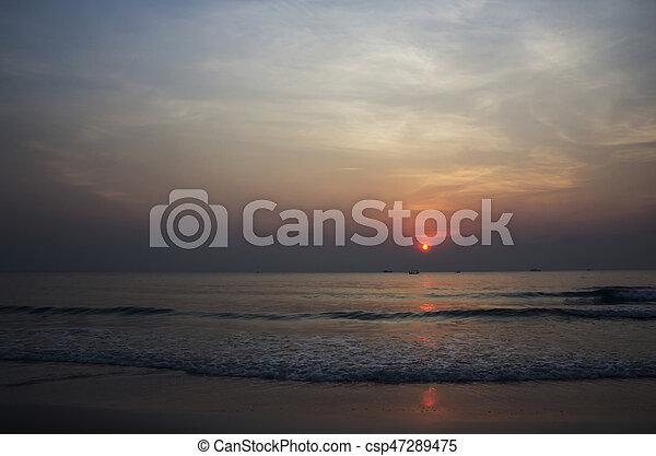Sunrise at the beach - csp47289475