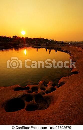 Sunrise at the lake - csp27702670