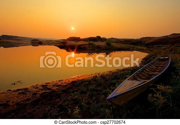 Sunrise at the lake - csp27702674