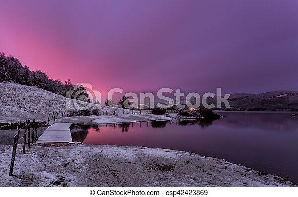Sunrise at the lake - csp42423869