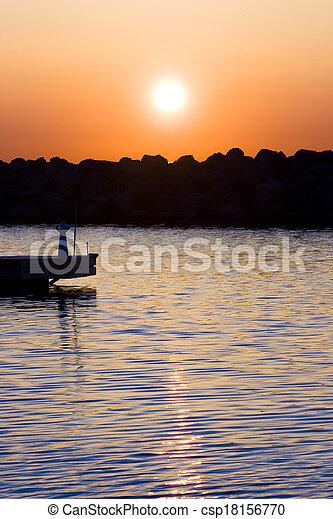 Sunrise at the Marina - csp18156770