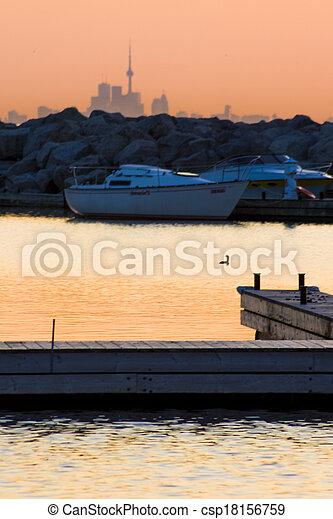 Sunrise at the Marina - csp18156759