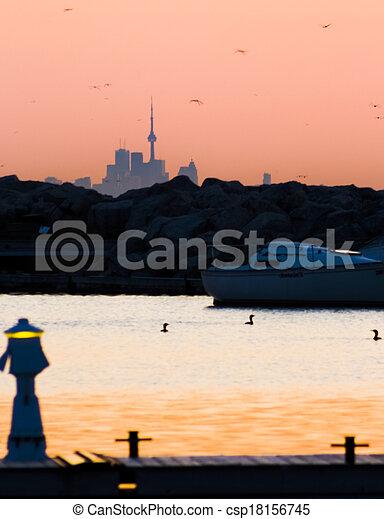 Sunrise at the Marina - csp18156745