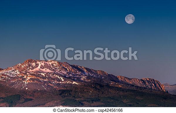 Sunrise at the Urkiola Natural Park - csp42456166