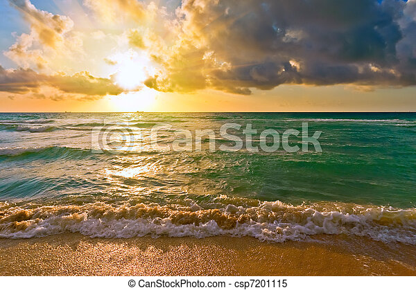 Sunrise, Atlantic ocean, FL, USA - csp7201115