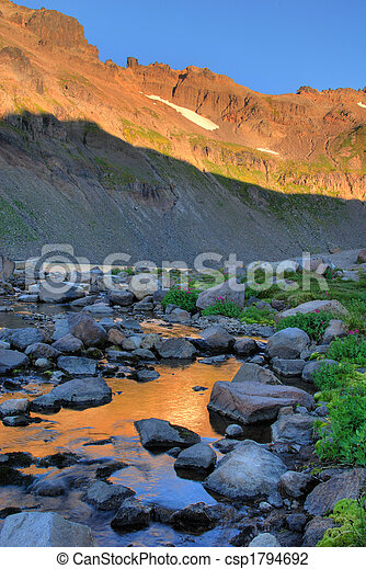 Sunrise, Goat Rocks Wilderness, Washington state - csp1794692