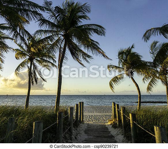 Sunrise in Key West in 2021 - csp90239721