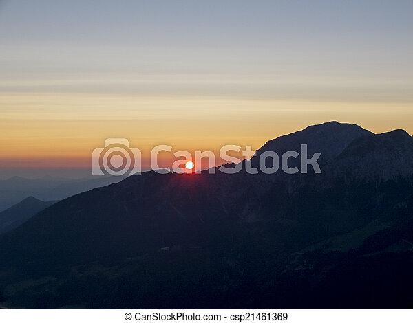 sunrise in the german alps - csp21461369
