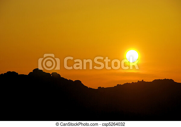 sunrise in the mountains 32 - csp5264032