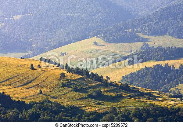 sunrise in the mountains, landscape, Poland - csp15209572