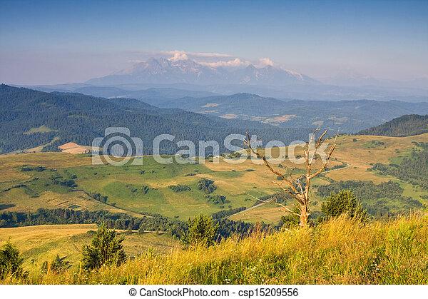sunrise in the mountains, landscape, Poland - csp15209556