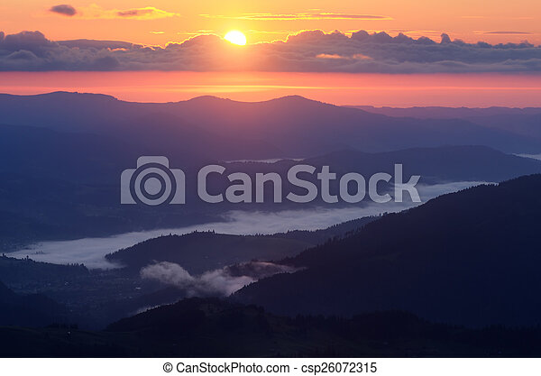 Sunrise in the mountains - csp26072315