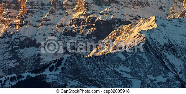 Sunrise in the Mountains - csp82005918