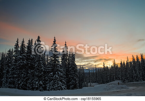Sunrise in the Mountains - csp18155965