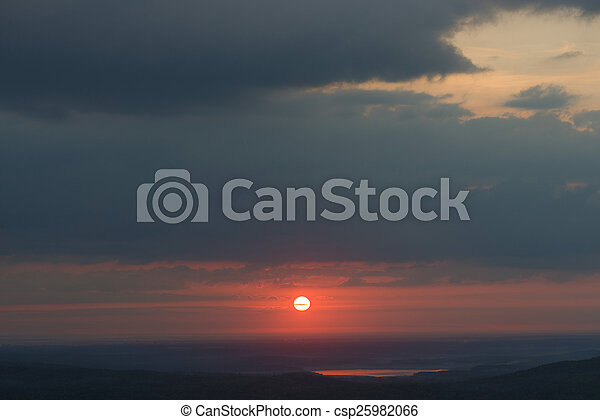 sunrise in the mountains - csp25982066